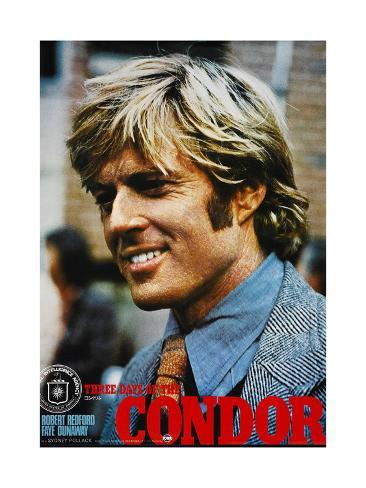 THREE DAYS OF THE CONDOR, Japanese poster, Robert Redford, 1975 Impressão artística