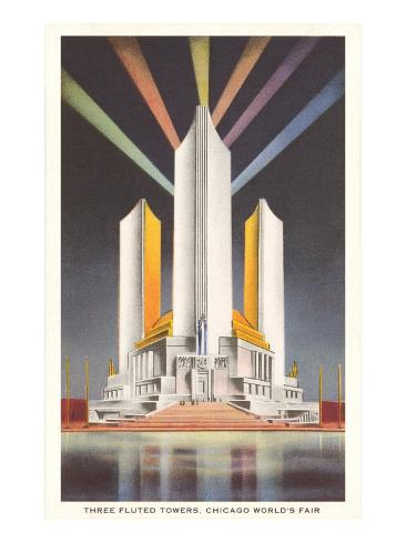 Three Fluted Towers, Chicago World's Fair Art Print