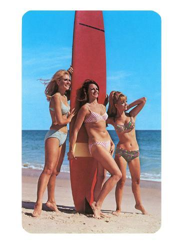 Three Gidgets on Beach Art Print
