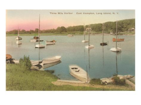Three-Mile Harbor, East Hampton, Long Island, New York Art Print