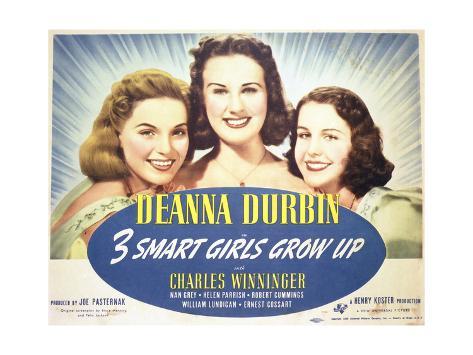 Three Smart Girls Grow Up - Lobby Card Reproduction Premium Giclee Print