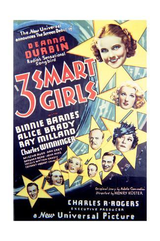 Three Smart Girls - Movie Poster Reproduction Stampa artistica