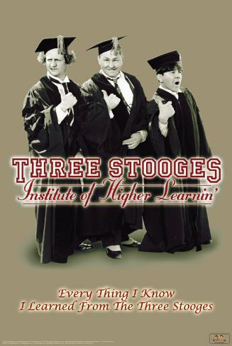 Three Stooges - Higher Learnin Poster