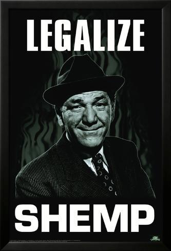 Three Stooges - Legalize Shemp Lamina Framed Poster