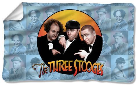 Three Stooges - Portraits Fleece Blanket Fleece Blanket