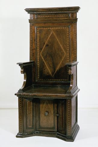 Throne Chair with Carthusian Inlays. Italy, 16th Century Giclee Print