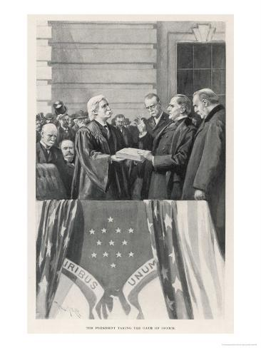 William Mckinley Takes the Oath of Office as 25th President Giclee Print