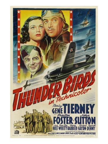 Thunder Birds, Clockwise from Left: Gene Tierney, Preston Foster, John Sutton, 1942 Photo