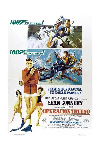 Thunderball, (aka Operacion Trueno), Spanish language poster, Sean Connery, 1965 Art Print