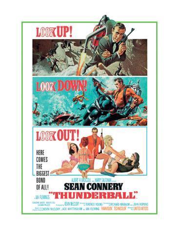 Thunderball-Look out Impressão em tela esticada