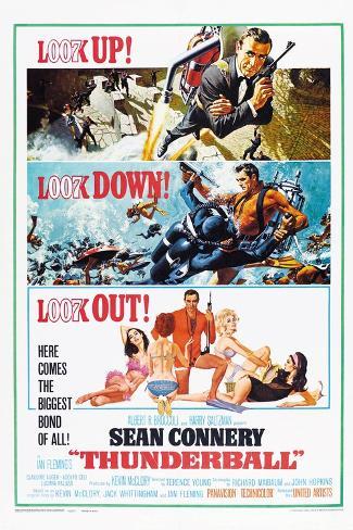 Thunderball, US poster, Sean Connery, 1965 Lámina