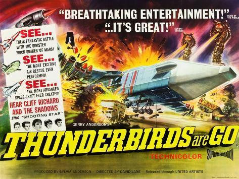 THUNDERBIRDS ARE GO, poster art, 1966 Stampa artistica
