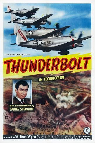 Thunderbolt, James Stewart, 1947 Art Print