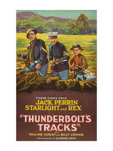 Thunderbolt's Tracks Stretched Canvas Print