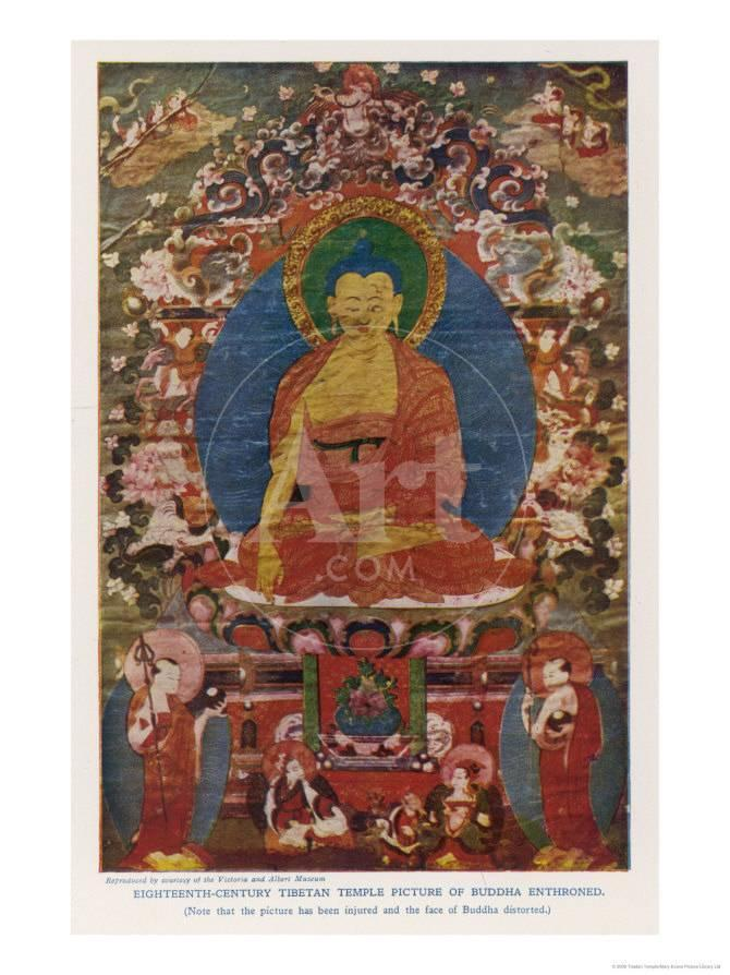 Siddhartha Gautama The Buddha Eighteenth Century Tibetan Temple