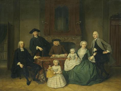 Portrait of the Brak Family, Amsterdam Mennonites Art Print