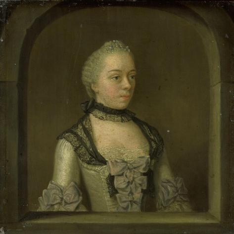 Portrait of Wilhelmina Hillegonda Schuyt, Wife of Joachim Rendorp Art Print