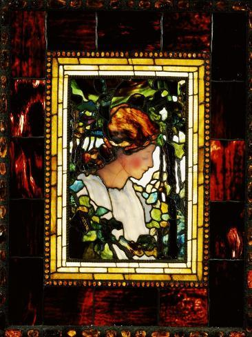 An Important Leaded Glass Portrait Window, Dated Prior 1900 Giclee Print
