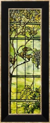 Fine Leaded Glass Triptych Window (Left Panel), circa 1908 Framed Art Print