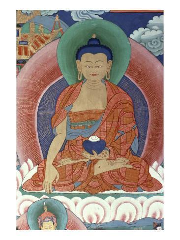 Tiger's Den, Detail of Buddha Stampa giclée