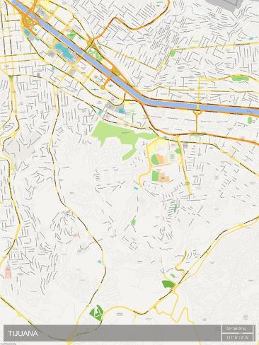 Tijuana Mexico Map Posters AllPostersca