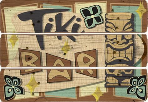 Tiki Bar Wood Sign