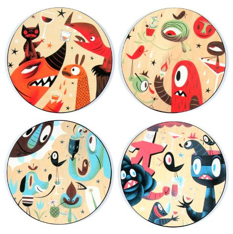 Tim Biskup Coaster Set Coaster