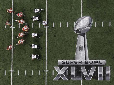 Super Bowl XLVII: Ravens vs 49ers Stretched Canvas Print