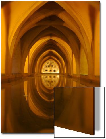 Golden Arch Hallway Art on Acrylic
