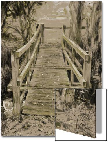 Thornham Bridge Sketch Art on Acrylic