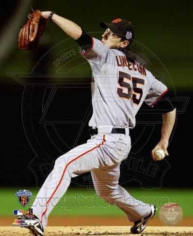 Tim Lincecum Game Five of the 2010 World Series Action Photo