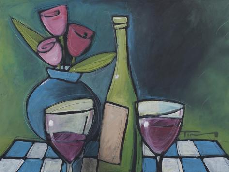 Wine and Flower Giclée-vedos