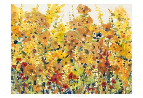 Golden Summer Garden I Art Print