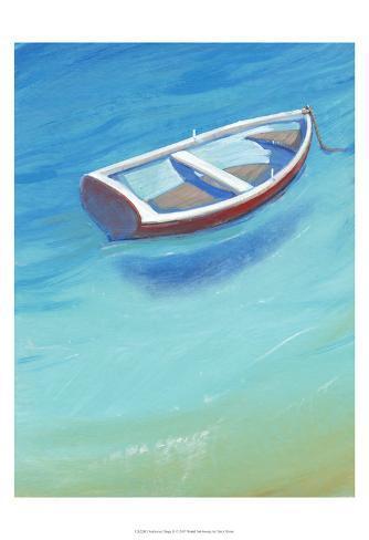 Anchored Dingy II Art Print