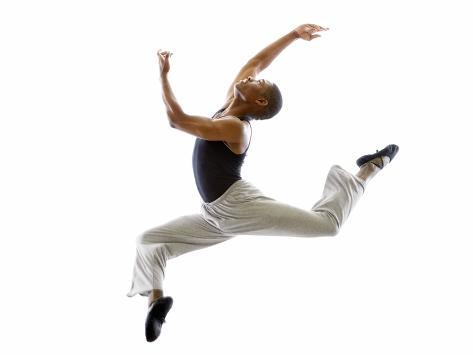 Ballet Dancer Mid-air in Jump Photographic Print