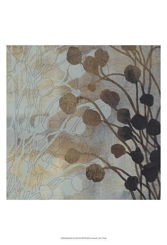 Spa Blue & Gold II Art Print