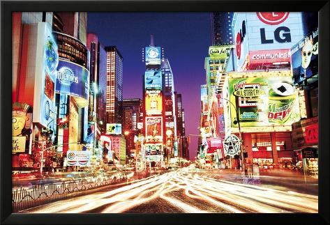 Times Square- New York Lamina Framed Poster
