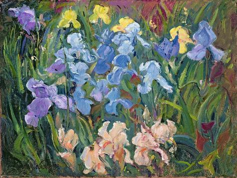 Irises: Pink, Blue and Gold, 1993 Stampa giclée