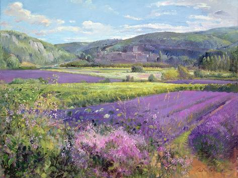 Lavender Fields in Old Provence Giclee Print
