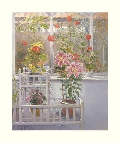 Through the Conservatory Window Art Print