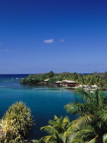 Anthonys Key Resort, Roatan, Honduras Photographic Print