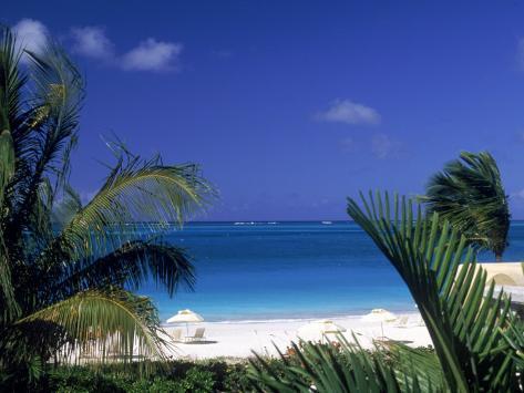 Tropical Beach, Turks and Caicos Islands Photographic Print