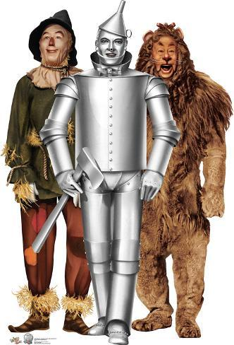 Tin Man Cowardly Lion And Scarecrow The Wizard Of Oz 75th
