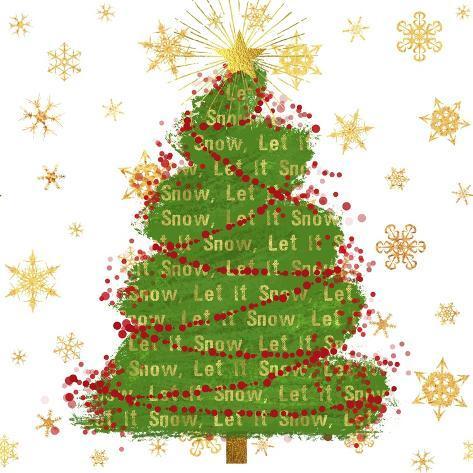 オールポスターズの tina lavoie let it snow christmas tree ジクレー