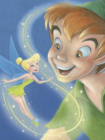 Tinker Bell and Peter Pan: A Touch of Magic Art Print