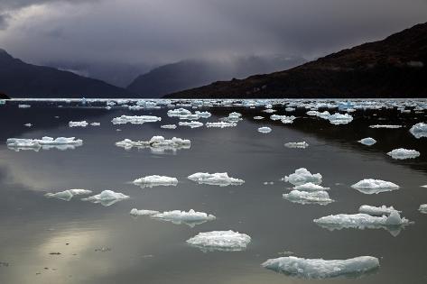 Campo De Oracion and Piloto Monsalvez Glacier in Calvo Fjord Photographic Print