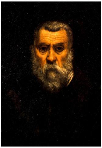 Tintoretto Self Portrait Art Print Poster Pôster