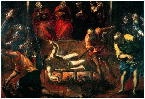 Tintoretto The Martyrdom of St Lazarus Art Print Poster Pôster