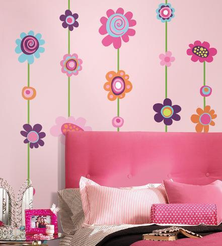 Tira de flor - destaque e cole - adesivo de parede gigante Adesivo de parede