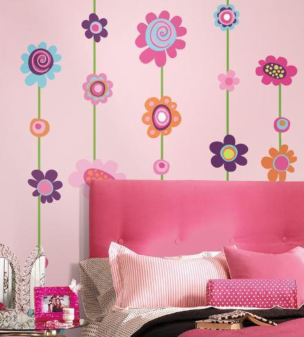 tiras de flores desprender y pegar adhesivo de pared On vinilo gigante pared